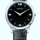 Chopard L.U.C XP Black Dial White Gold Leather Men's Watch