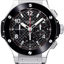 Hublot Big Bang Stainless Steel Carbon Rubber Chronograph...