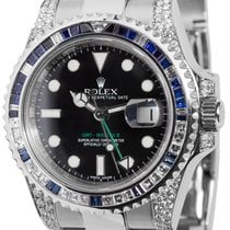 Ρολεξ (Rolex) Rolex GMT-Master II Steel Blue/White Diamond...