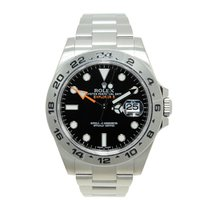 ロレックス (Rolex) Explorer II Stainless Steel Black Automatic...