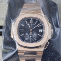 Patek Philippe 5980-1R-001  Nautilus Black Dial  Rose Gold...
