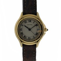 Cartier Cougar 26mm Small Size 18kt Yellow Gold Silver Dial On...