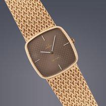 Omega DeVille 18ct gold manual bracelet watch Full Set