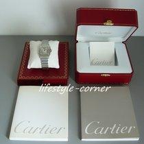 Cartier Santos Galbée GM (Stahl/Stahl) mit Cartier Unterlagen...