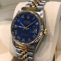 Rolex Oyster Datejust Jubilee Gold Steel Deep Blue Dial 36 mm