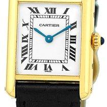 "Cartier Louis Cartier ""Classic Tank"" Strapwatch."