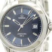 Omega Polished Omega Seamaster 120m Steel Quartz Mens Watch...