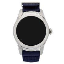 Montblanc Summit Smartwatch - Steel Case with Navy Blue Rubber...