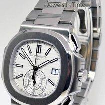 Patek Philippe Mens NEW Nautilus Chronograph Watch Steel...