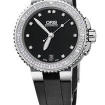 Oris Aquis Date Diamonds, 118 Diamond Set, Rubber Bracelet