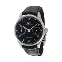 IWC PORTUGIESER AUTOMATIC BLACK DIAL STAINLESS STEEL