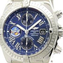 브라이틀링 (Breitling) Polished Breitling Chronomat Evo Blue...