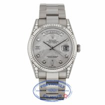 Rolex Day-Date 36mm Factory Diamond Lugs Meteorite Diamond Dial