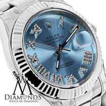 Rolex Mens Rolex Datejust Ii (2)ice Blue Diamond Dial Gold...