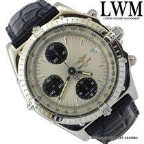 Breitling Chronomat A13048 silver dial Full Set 2003