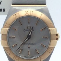 Omega Stainless Steel And 18k Rose Gold Constellation Silver...
