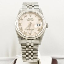 Rolex Datejust 16234 36mm Watch Ivory Face Box & Booklets...