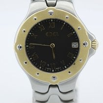 Ebel Stainless Steel Sportwave With Gold Bezel On Bracelet