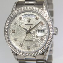 Rolex Day-Date President 18k White Gold Jubilee Diamond...