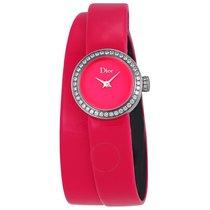 Dior La Mini De Pink Dial Ladies Diamond Watch
