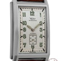 Wyler Mans Wristwatch early rectangular Automatic Wind, Back Set