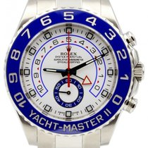 Rolex Yacht-Master II 116680 44mm Blue Ceramic Stainless Steel...