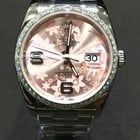Rolex Datejust 36mm Diamonds DIAMOND Bezel Rose Flower Dial