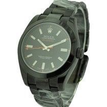 Rolex Used 116400GV_pvd DLC Milgauss with Black Dial - Black...