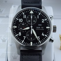 萬國 (IWC) IW377709 Pilot Black Automatic Chronograph Men's...