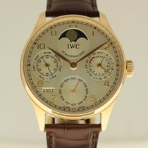 IWC Portuguese Perpetual Calendar Moonphase IWC serviced 4-2017