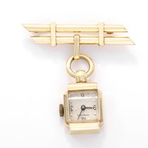 Concord for Tiffany 14k Yellow Gold Ladies Vintage Lapel Watch...