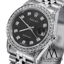 Rolex Ladies Rolex Datejust 26 Mm Black Dial Jubilee Bracelet...