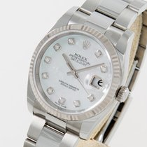Rolex Datejust  silver diamond dial LC 100 box papers