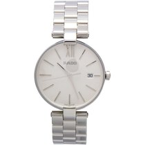 Rado Coupole White Dial Ladies Stainless Steel Watch R22852013