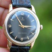 Tudor Vintage Watch Shock Resistant 1327 Case Back Steel Gold...