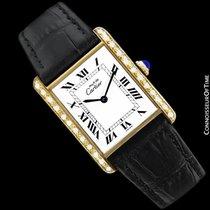 Cartier Vintage Mens Tank Mechanical Watch - Gold Vermeil, 18K...
