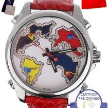 Jacob & Co. MINT . Five Time Zone World Map Quartz White...