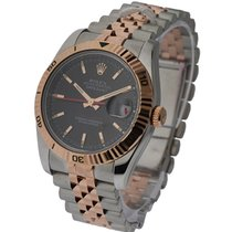 Rolex Used 116261_used_black Datejust Turn O Graph in Steel...
