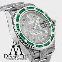 Rolex Men's Rolex Gmt-master Ii 116710 With Green Emerald...