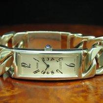 Hurisa 925 Sterling Silber Handaufzug Damenuhr Silberuhr /...