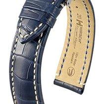 Hirsch Viscount Lederband L blau 22mm 10270789-2-22