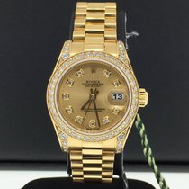 Rolex Datejust 26mm Ladies 18k Yellow Gold Diamond Bezel &...