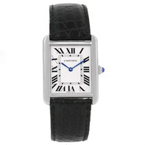 Cartier Tank Solo Large Steel Silver Dial Unisex Watch W1018355