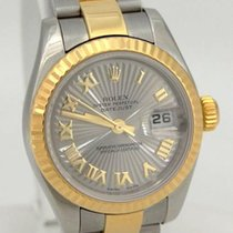 Rolex Ladies Rolex 18k Yellow Gold Steel Datejust Sunburst...