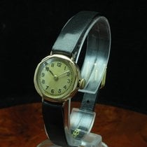 Art Deco Art-deco Art Deko Gold Mantel Handaufzug Damenuhr