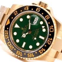 勞力士 (Rolex) Rolex 18K Gold Ceramic GMT Master ll - Green Dial...