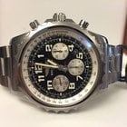 Breitling Chronospace Pilotband Steel Black Arabic Dial 46 mm...