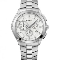 Ebel Sport Steel Case, Silver Dial, Date, Chronograph
