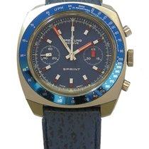 Breitling Sprint vintage Chronograph mit blauem Zifferblatt