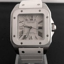 Cartier Santos 100 Midsize Steel Roman Dial 45 x 35 mm (Full Set)